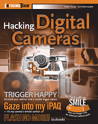 Hacking digital cameras, book cover