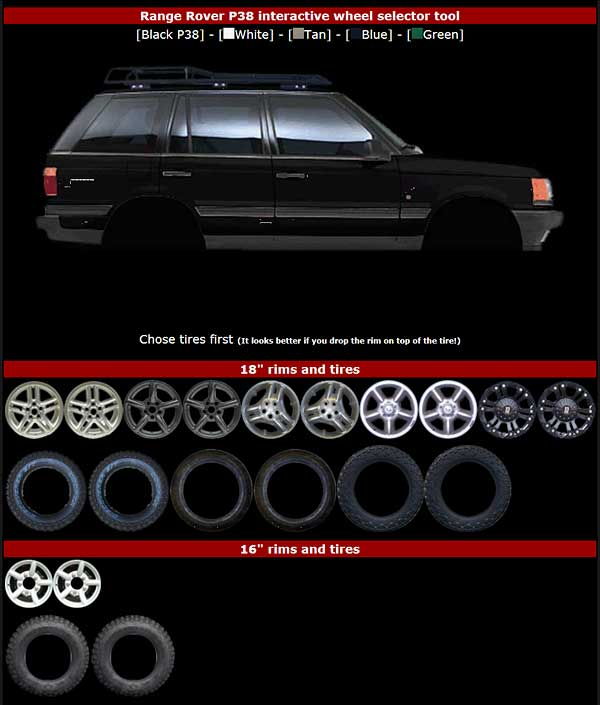 Range Rover P38 Wheels Range Rover P38 Interactive