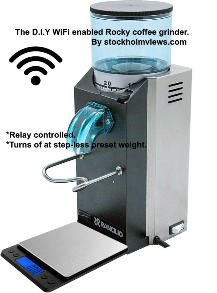WIFI enabled coffee grinder