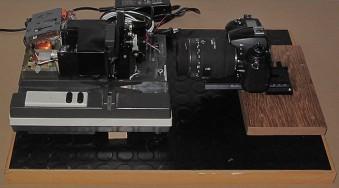 A DIY automatic slide film copier.