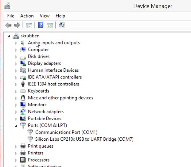 Windows 8 Device manager